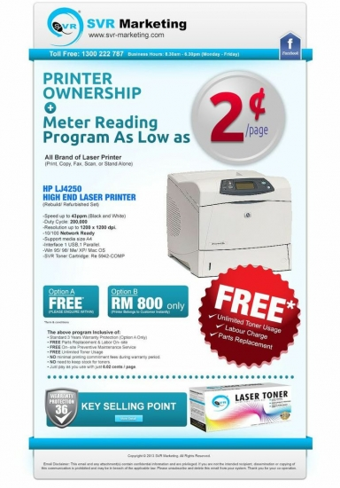 Printer Ownership - Meter Reading Program